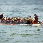 Dragon boat racing has become very popular. Photo by Chris Anderson