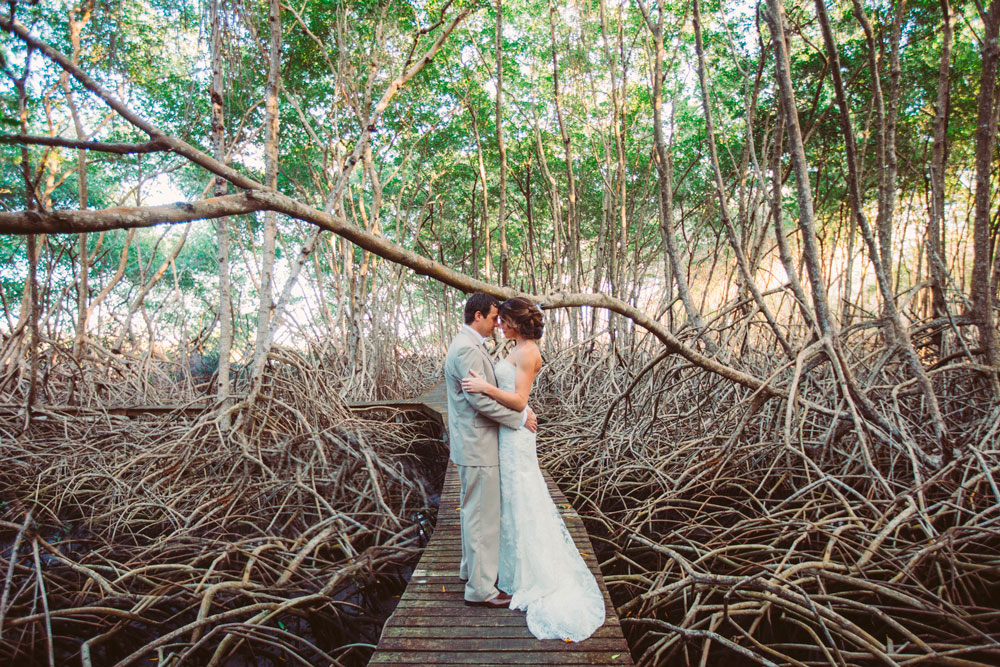 Wooden path through the mangroves at Tobago Plantations. Photo courtesy Yaisa Tangwell