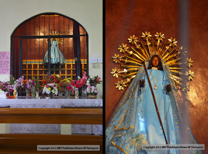 Siparee/Supari Mai or the Black Madonna/Virgin at the Church of La Divina Pastora (the Divine Shepherdess) in Siparia. Photo: Ariann Thompson/MEP Publishers