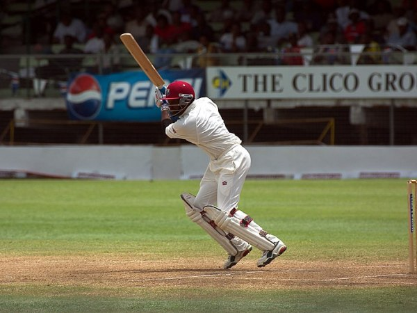 Brian Lara batting for West Indies against India at Kensington Oval, Barbados, in May 2002. Photo: Ukexpat