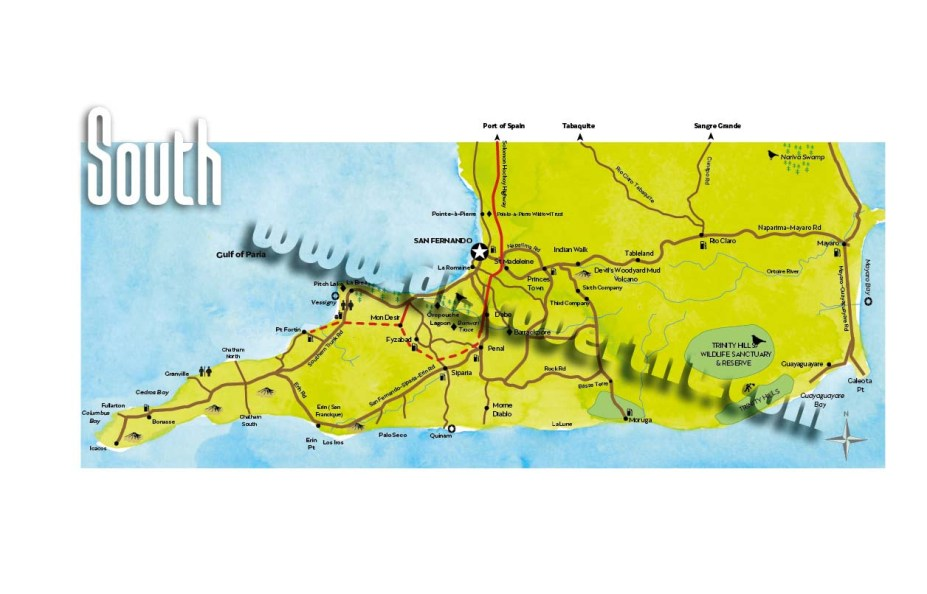 South Trinidad Map. Copyright MEP Publishers 2017