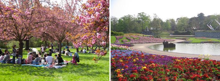 Vincennes's floral park