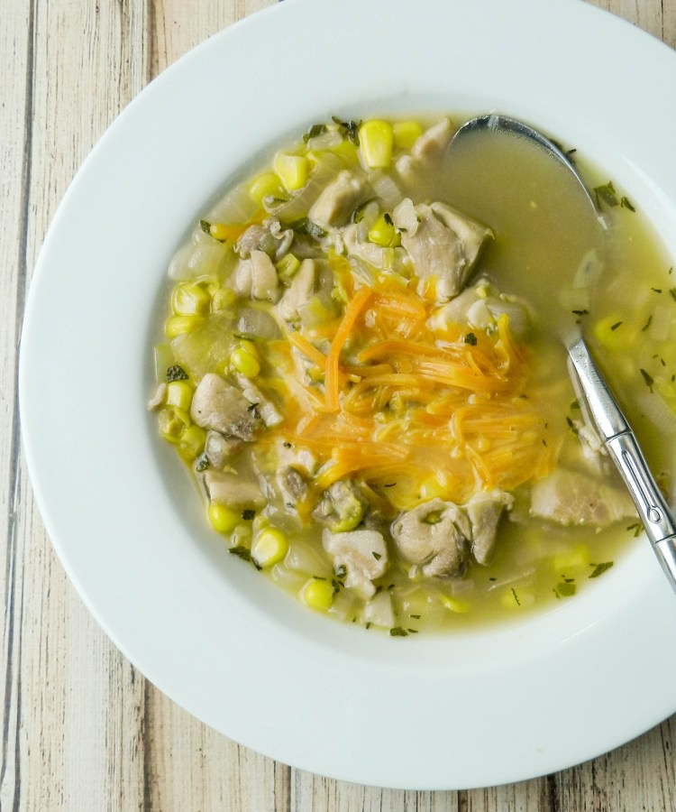 Chicken Sage and Corn Soup