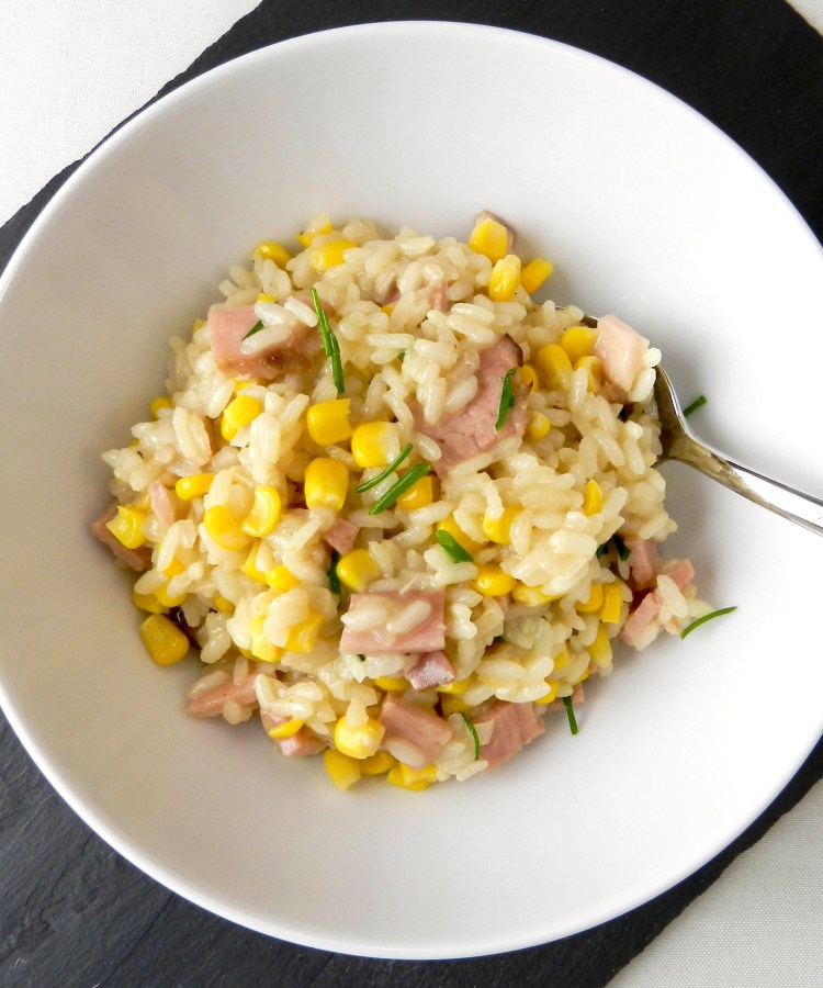Ham and Corn Risotto