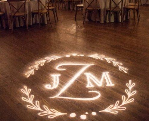 logo projecteren trouwfeest