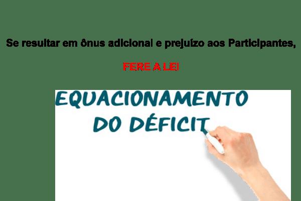 As contribuições extras para o equacionamento, com alíquotas escalonadas, resulta em ônus adicional e prejuízo aos Participantes