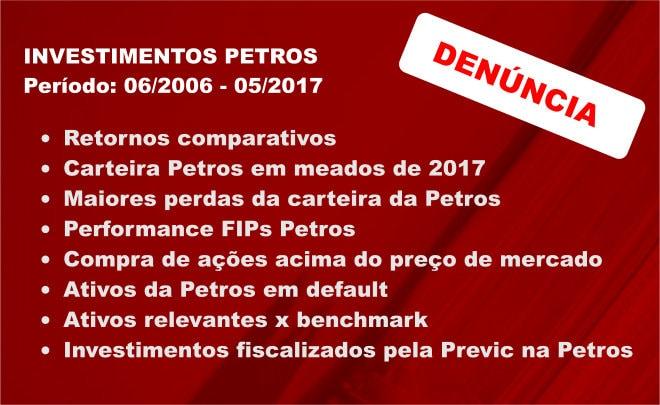 EXCLUSIVO - Riscos relacionados ao desempenho dos investimentos da Petros