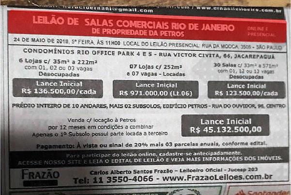 Pior momento para vender ou leiloar: taxa de imóveis comerciais vazios chega a 33,5% no centro RJ