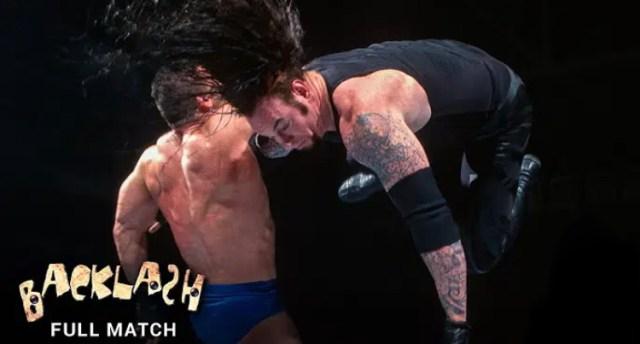 Undertaker vs Ken Shamrock   WWE Backlash 1999 Free Match
