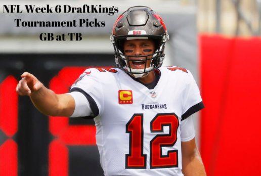 NFL Week 6 DFS DraftKings Picks | Packers at Buccaneers | October 18