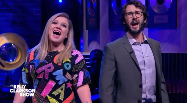 Josh Groban and Kelly Clarkson Sing Together during Interview