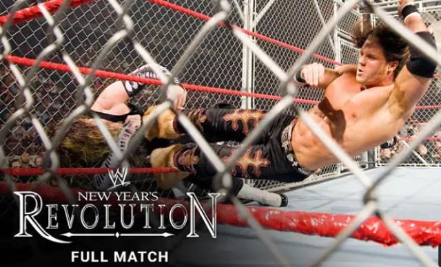 Jeff Hardy vs Johnny Nitro Cage Match WWE New Year's Revolution 2007