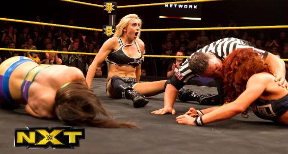 Becky Lynch vs Charlotte Flair vs Bayley   2015 WWE NXT Free Match