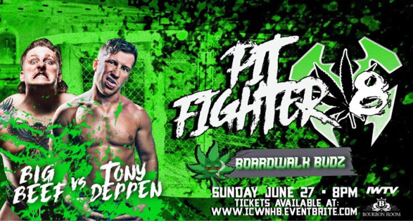 Announced Matches, Ticket Info & More for ICW Pitfighter X8