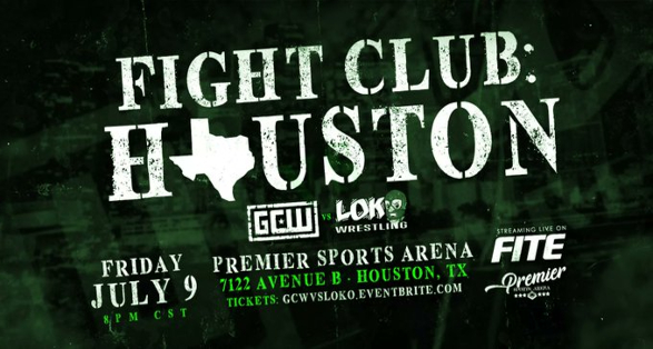"""GCW """"Fight Club: Houston"""" Tickets, Matches & Streaming Info"""