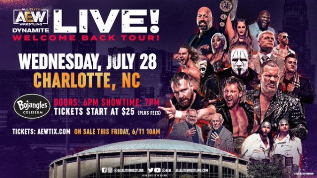 AEW Dynamite Charlotte, North Carolina on July 28 2021 Preview