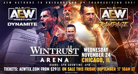 AEW Dynamite November 24 2021 in Chicago Ticket Info & Preview