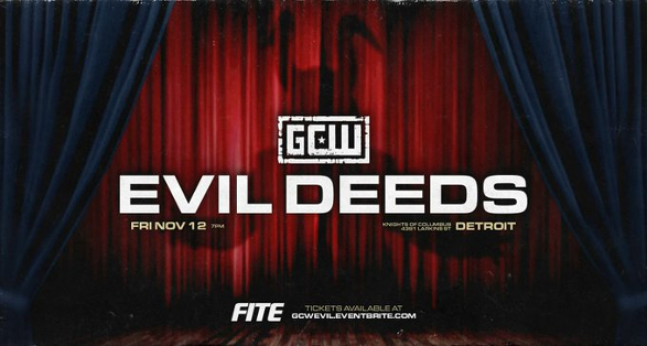 """GCW """"Evil Deeds"""" in Detroit Michigan on November 12 Preview"""