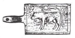 fg 10 – stampo in legno per burro usato nelle valli biellesi fino agli anni '50.