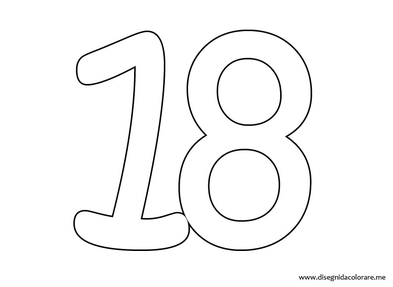 número 18 colouring pages page 2