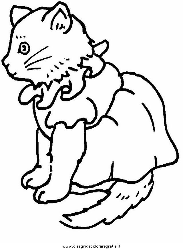 Disegno Gatto063 Animali Da Colorare