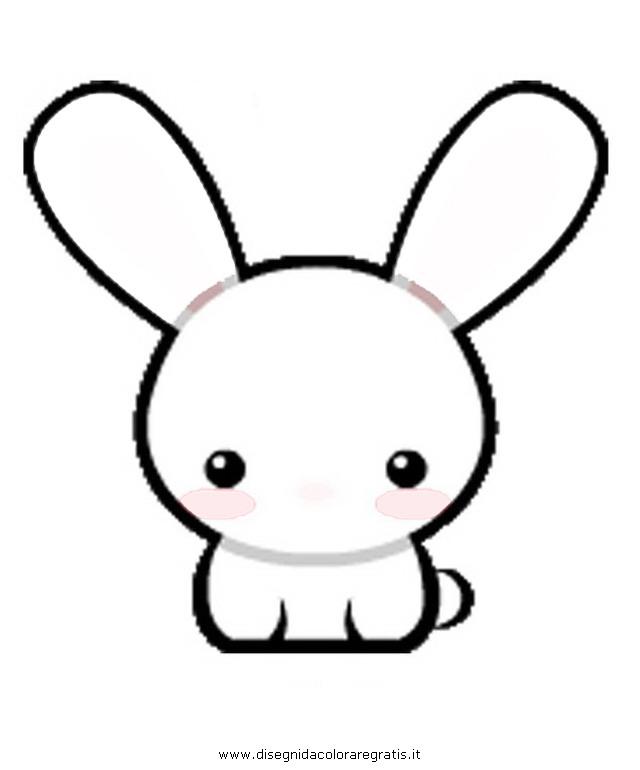 disegno kawaii 5 personaggio cartone animato da colorare