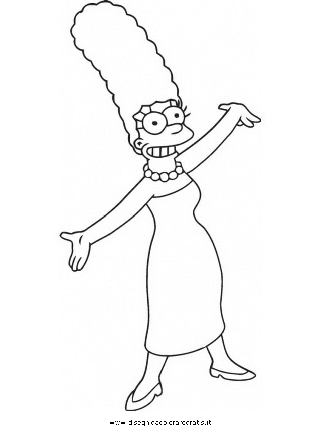 marge simson colouring pages