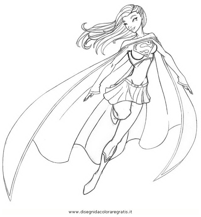 Supergirl Coloring Pages For Kids Coloring Pages For Kids Supergirl