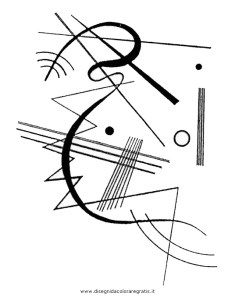 Disegno Kandinsky 06: misti da colorare