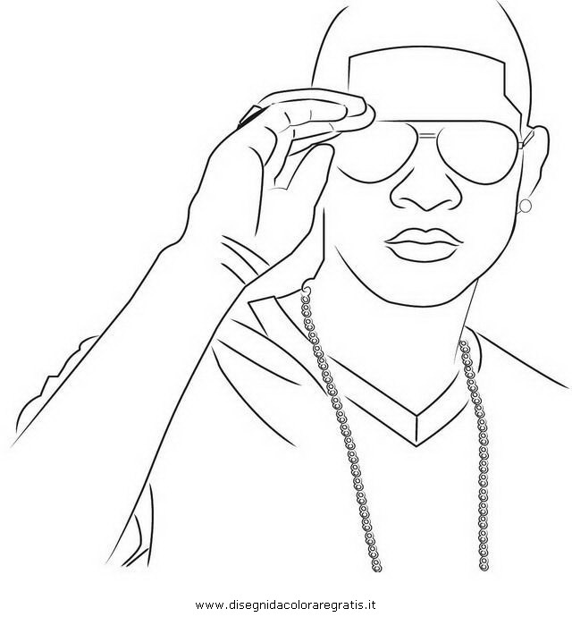 usher colouring pages