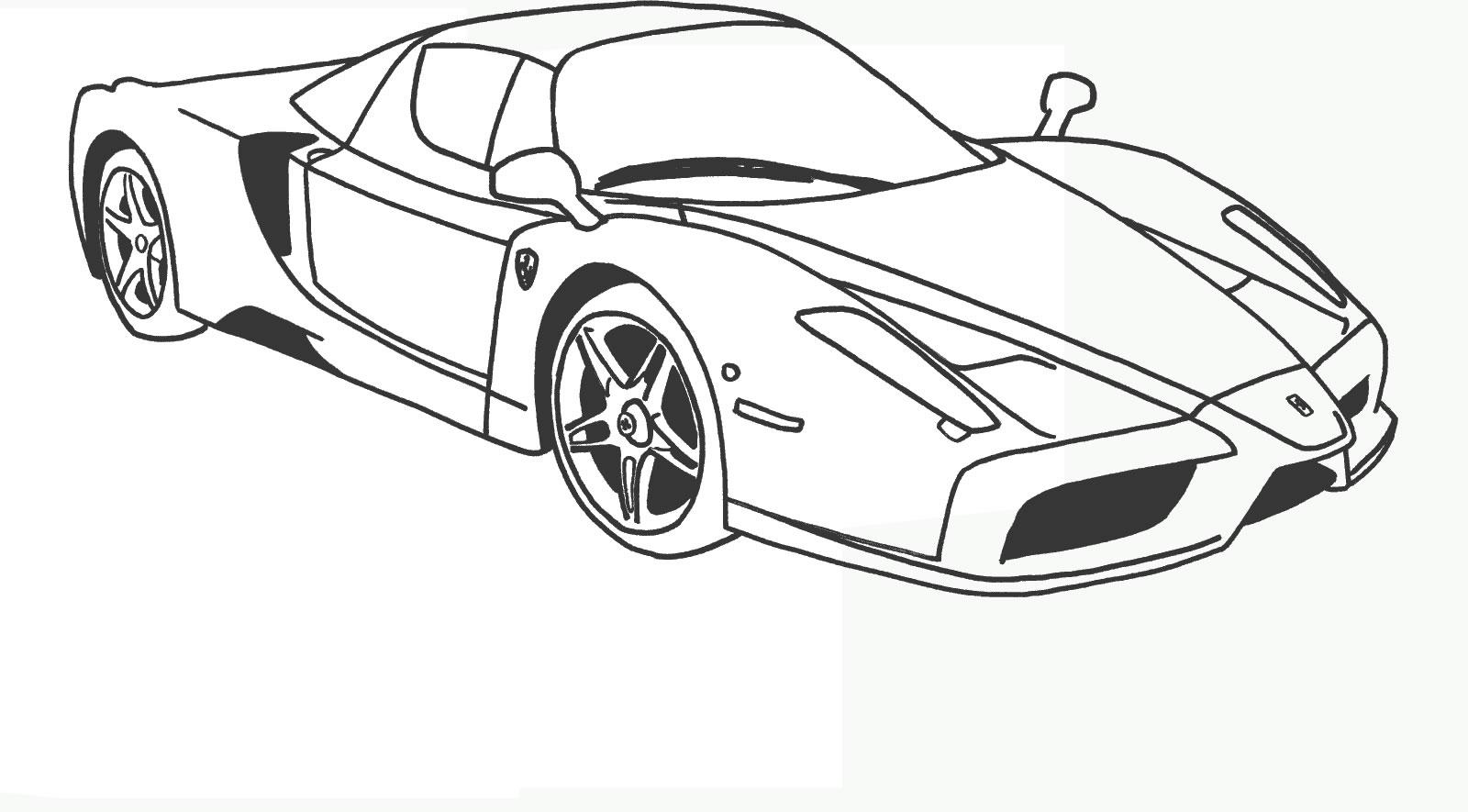 Ferrari 7 Disegni Da Colorare Per Adulti E Ragazzi