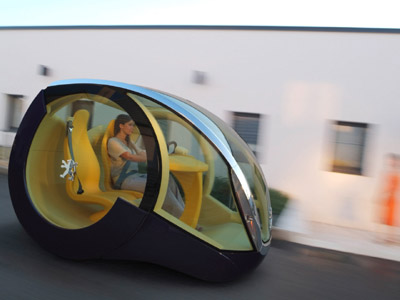 Portuguese designer, André Costa designed the Peugeot Moovie, an environmentally friendly city / urban driving concept car. Introduced at the 2005 Frankfurt Auto Show by Peugeot.