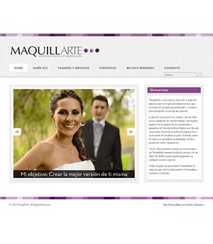 Sitio Web Maquillarte
