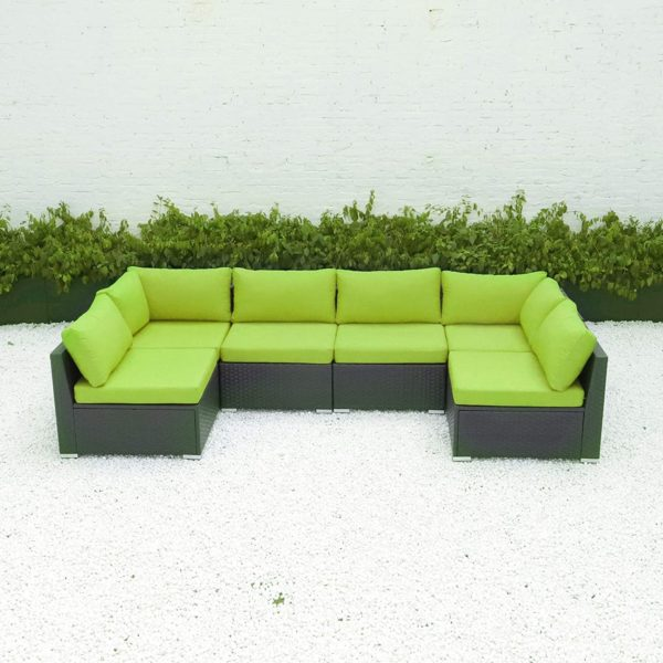diseno 6 7pcs outdoor patio furniture sectional with cushions