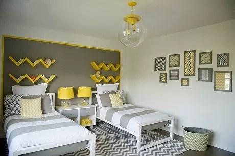 Decoracion en gris y amarillo 2