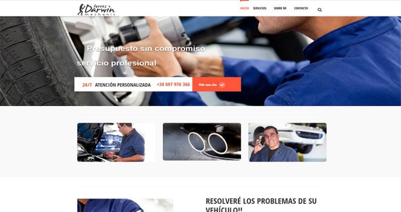 Web de mecanico - Diseño web Las Palmas