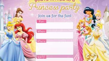 FREE Printable Disney Princess Birthday Invitations D Is For