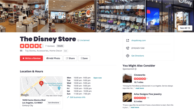 The Disney Store on Yelp with Reviews