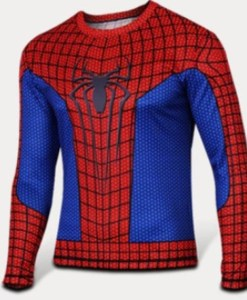 Ajustada camiseta de Spiderman en 3D