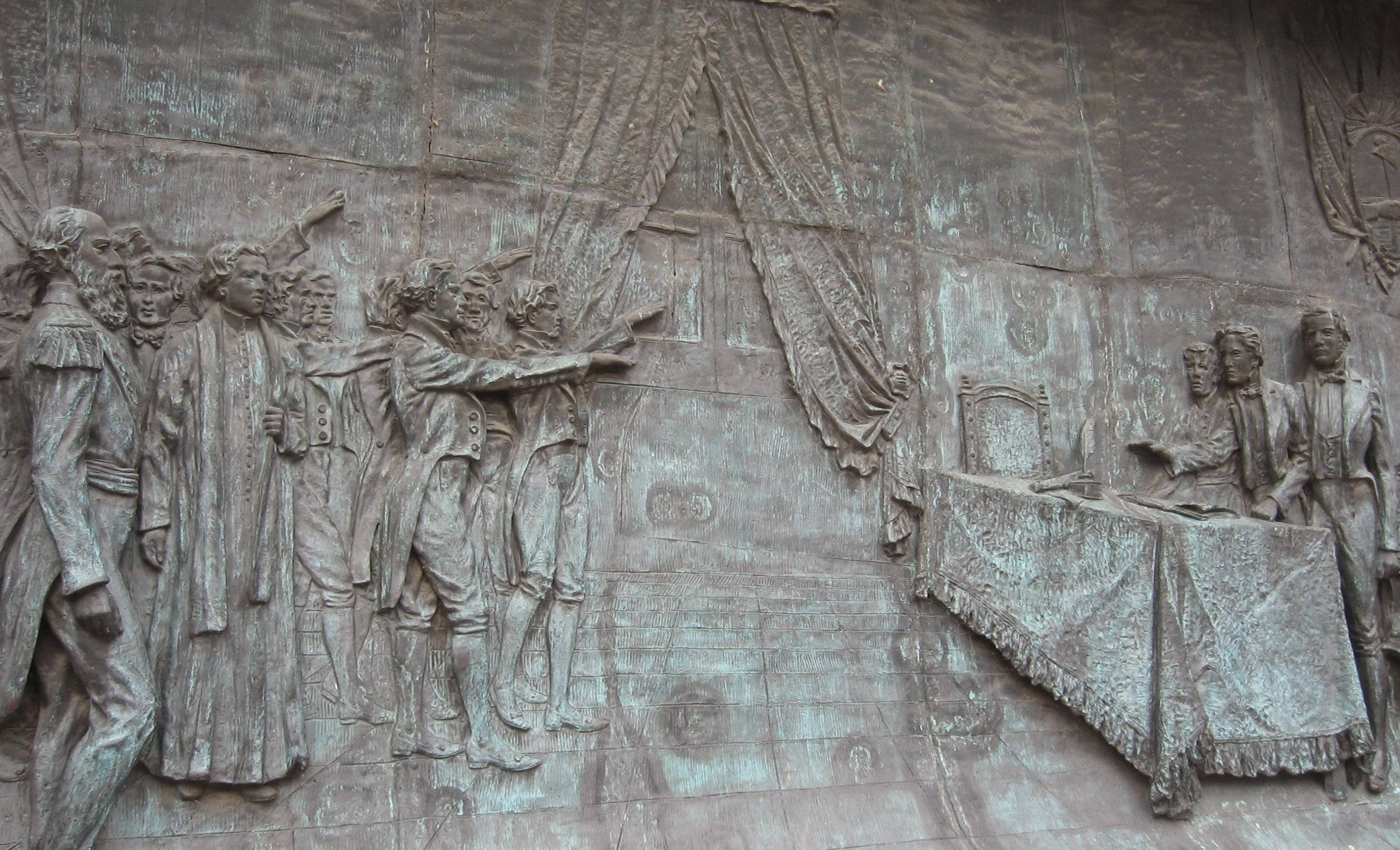 Roca infiltrado en el mural delaJura de la IndependenciaenTucumán