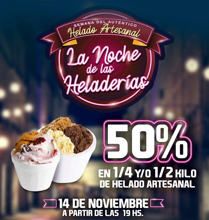 Noche de las heladerías en Rosario