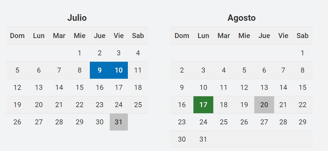 Feriados en Argentina 2020
