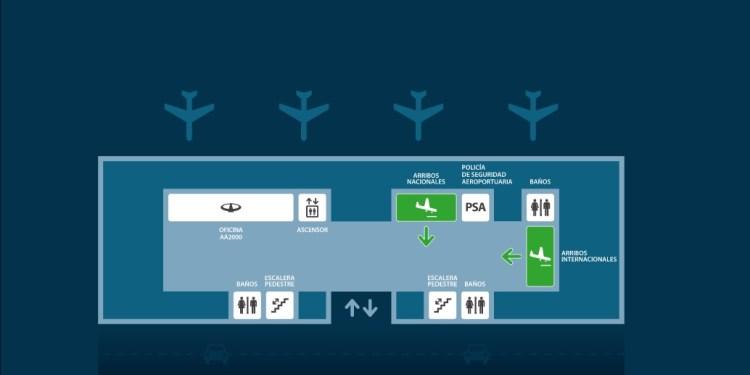 Mapa del aeropuerto Bariloche
