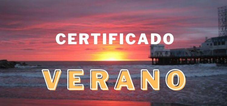Certificado Verano