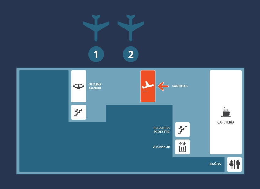 Primer piso del Aeropuerto de Comodoro Rivadavia