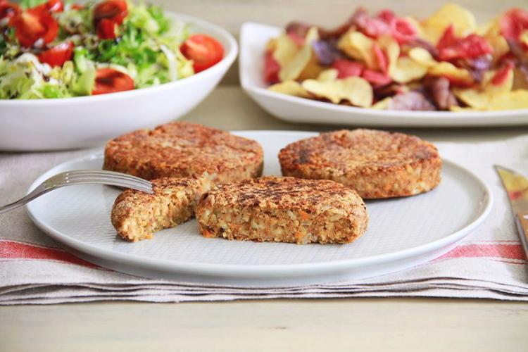 Como preparar hamburguesas veganas de lentejas y arroz