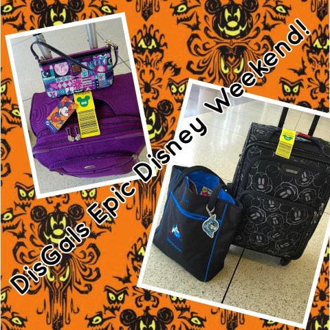 Disney Luggage packed for Disney Trip