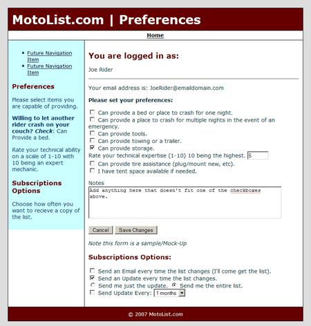 MotoList