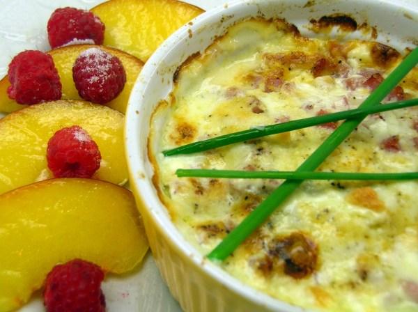 Shirred baked eggs