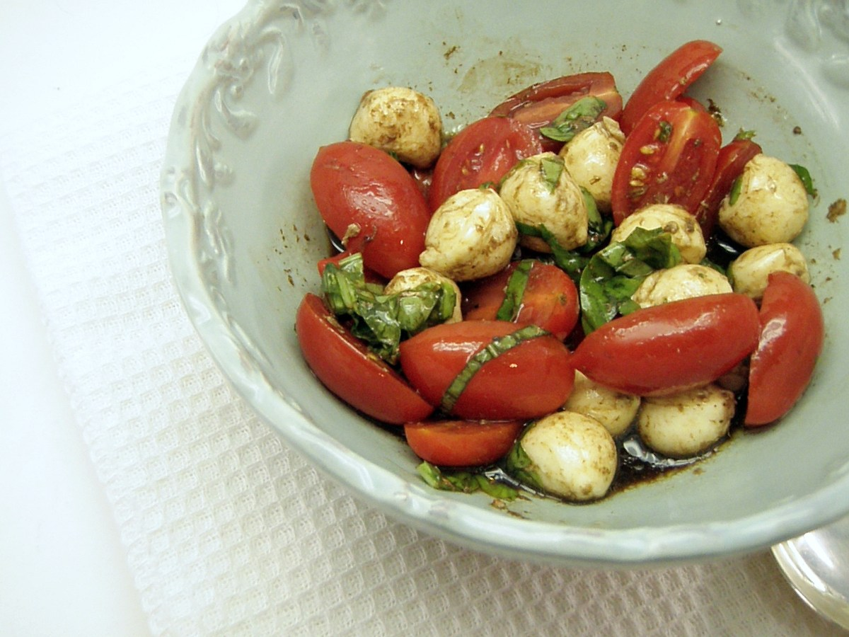 Kid-Size Caprese Salad in Five Minutes